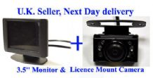 "Video Parking Reversing kit colour Camera 3.5"" LCD UK"